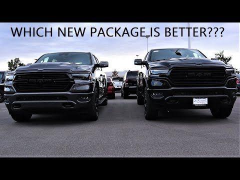 2020 Ram 1500 Limited Black Appearance Group Vs 2020 Ram 1500 Laramie Night Edition Youtube Ram 1500 Laramie Ram