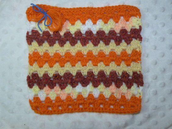 Striped Granny from, Christine D.  www.knit-a-square.com