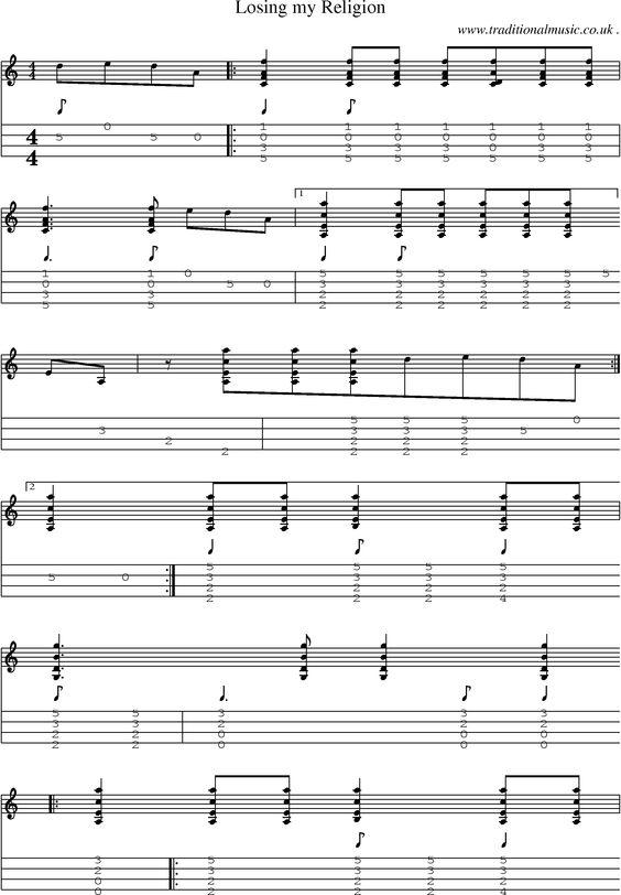 Mandolin mandolin tabs to losing my religion : Pinterest • The world's catalog of ideas