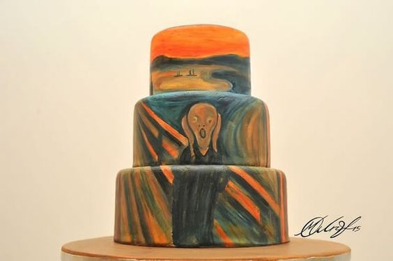 famous paintings on cakes