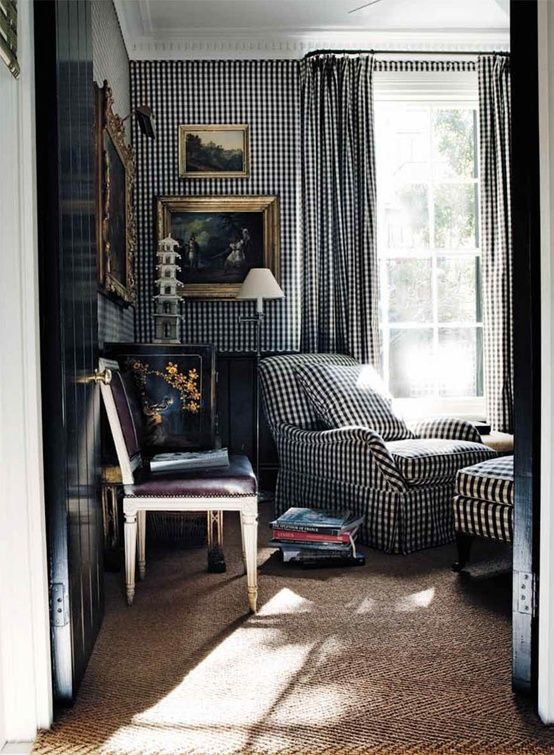 black & white gingham - Ahhhh! Love this!: