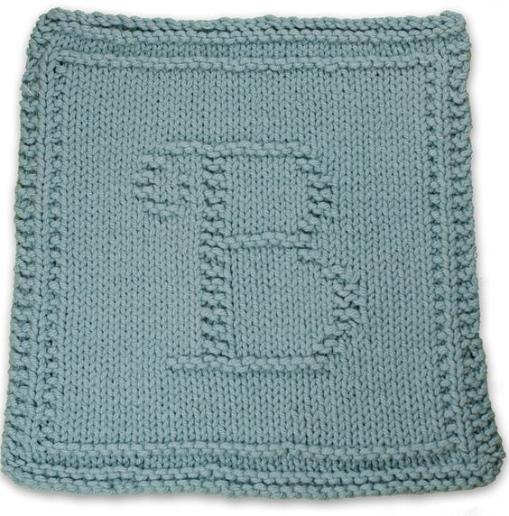 Letter b, Dishcloth and Letters on Pinterest
