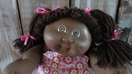 This little cutie would be a good playmate! HTF (hard to find) Vintage Cabbage Patch Kid 1985 Factory : Tag Has Been Removed Signature :