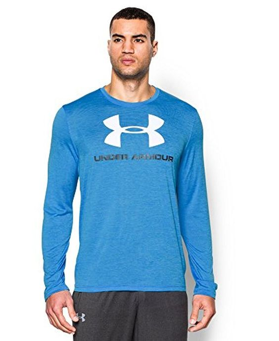 Under Armour Men's UA Tech™ Sportstyle Long Sleeve T-Shirt Extra Large ELECTRIC BLUE | AMAZON.COM saved by #ShoppingIS