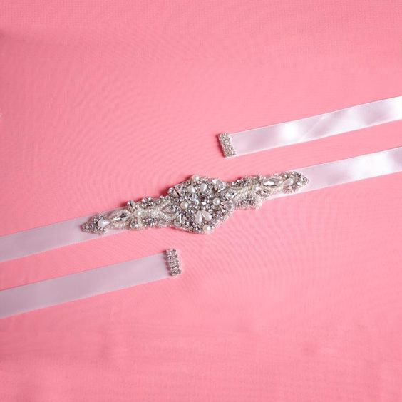 Shining Crystals Bridal Sash Hot Selling Bridal Accessory with Ribbon Tie Cheap Wedding Belt Bridal Sash Popular Bridal Belt S29 Online with $31.41/Piece on Yupan's Store | DHgate.com