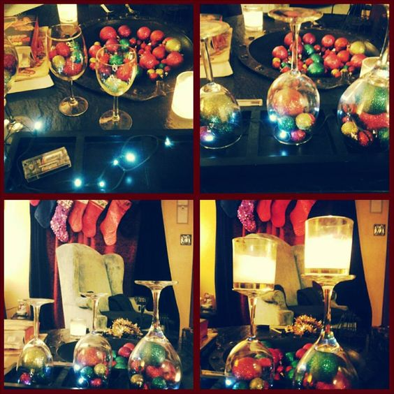 Christmas centerpiece ♥ All from Dollar Tree, battery operated LED ...