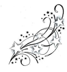 I think this would be pretty coming off of both sides of my cross tattoo, around my shoulders and to the front and of course with some color!!