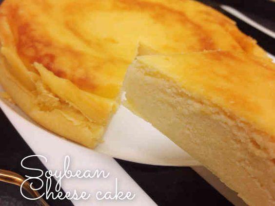 炊飯器でしっとり濃厚♡お豆腐チーズケーキの画像