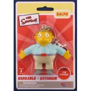 Simpsons Ralph Wiggum Bendable Keychain