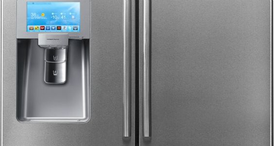 You can find WeatherBug on this high-tech 'fridge from Samsung.