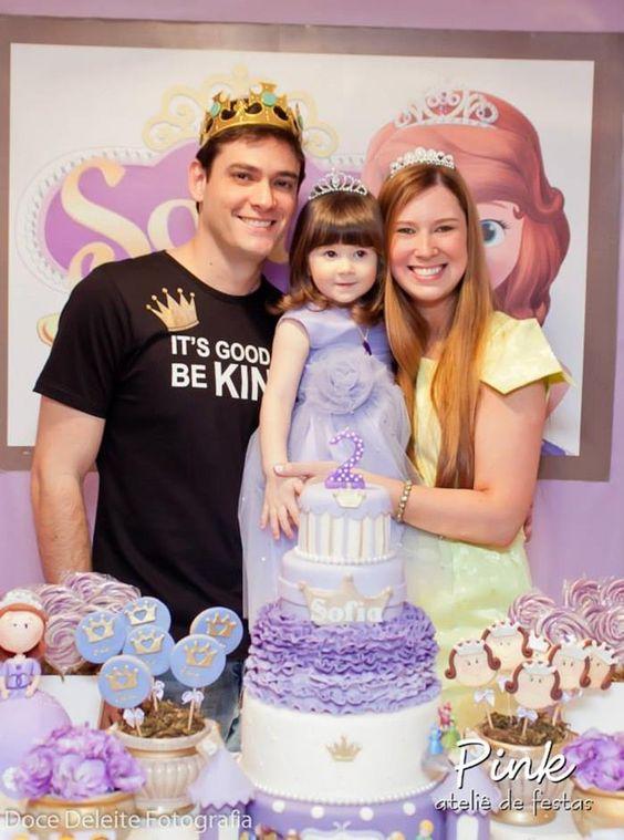 Sofia The First Princess Party Ideas Suprimentos Idéia fazer bolo de Decoração da da Disney