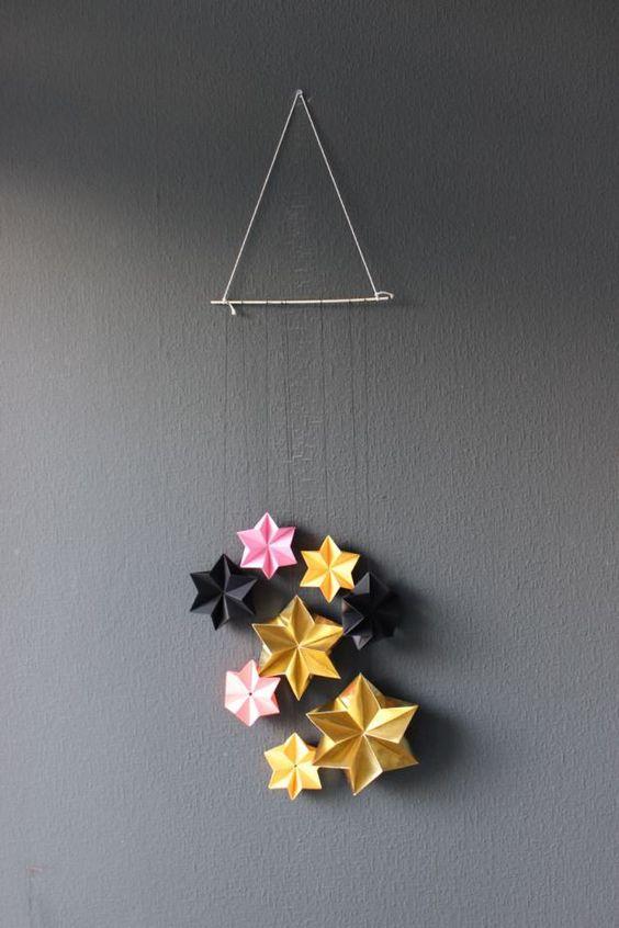 diy 3d sterne f r weihnachten navidad nizza und origami. Black Bedroom Furniture Sets. Home Design Ideas