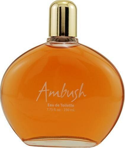 AMBUSH by Dana for WOMEN: EDT 7.75 OZ (UNBOXED) by AMBUSH. $7.49. Fragrance Notes: lavender, jasmine, oakmoss, sandalwood and patchouli. Accompanied by fruity notes of fresh citrus, melons, peaches and plums.. Recommended Use: casual. Design House: Dana. Launched by the design house of Dana in 1955, AMBUSH is a women's fragrance that possesses a blend of lavender, jasmine, oakmoss, sandalwood and patchouli.  Accompanied by fruity notes of fresh citrus, melons, peac...