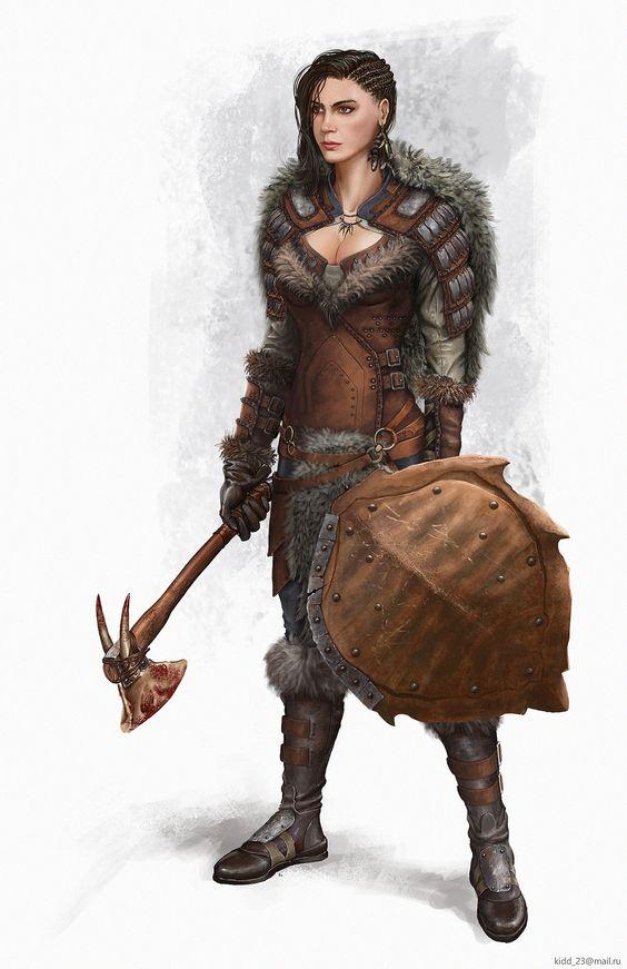 Merlara Lionheart, female warrior, female barbarian, great ...