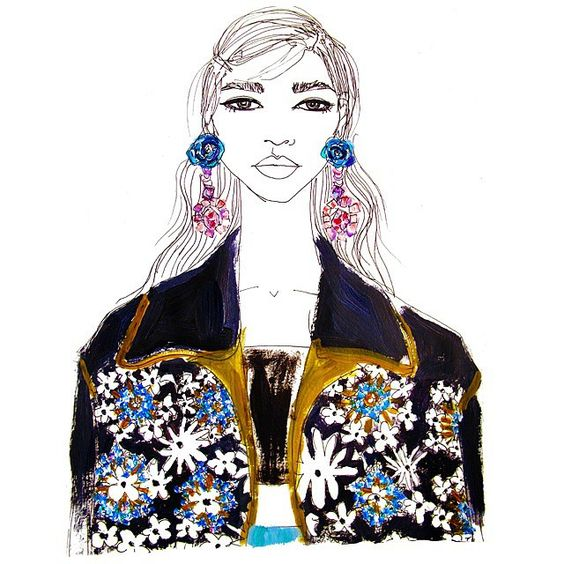 Even if it was like a thousand years ago, literally physically cannot with #prada Spring 2012 ✋✋ #fashionillustration