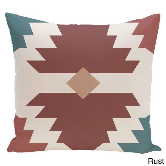 E by Design 20 x 20-inch Mesa Geometric Print Pillow