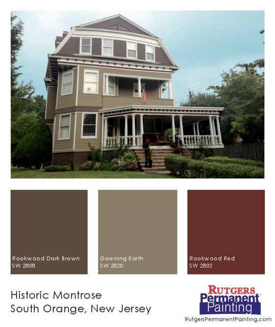 South orange historic homes and color inspiration on for Exterior house color inspiration