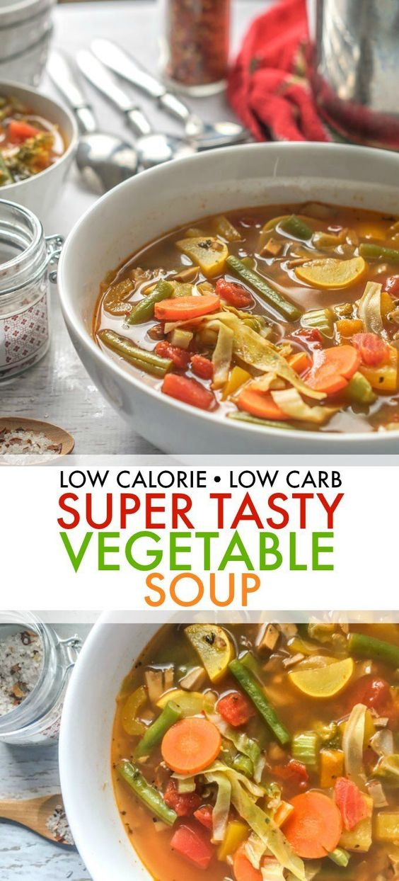 Low Calorie and Low Carb Vegetable Soup