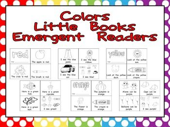 6 printable emergent reader books :) $
