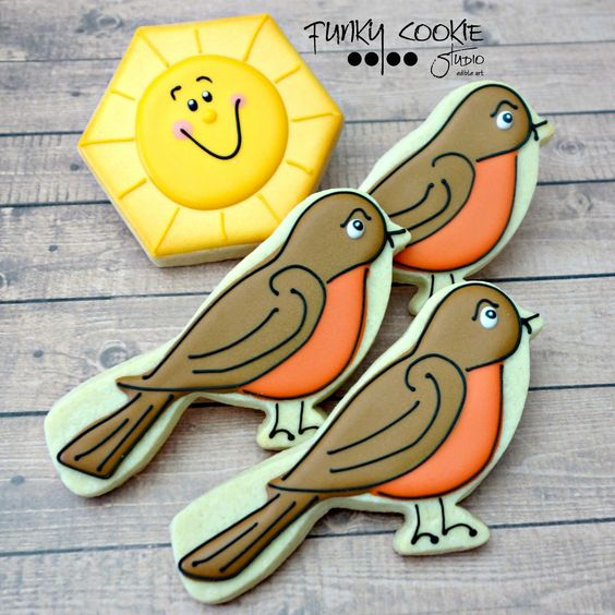 Robin cookies birds