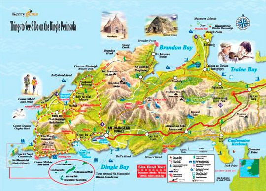 Dingle Peninsula things to see and do – Ireland Tourist Attractions Map