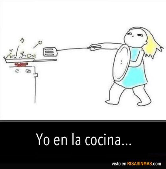 Yo en la cocina.