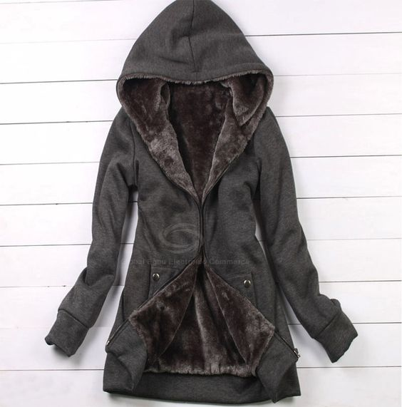 Casual Hooded Coat For Women