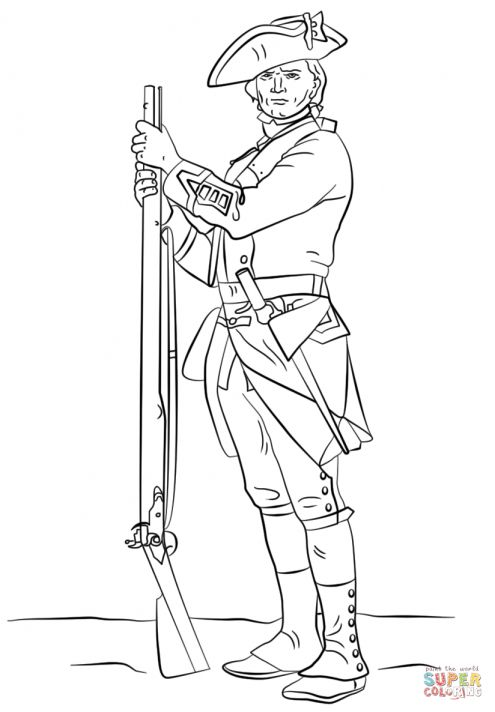 9 Revolutionary War Soldiers Coloring Pages Cartoon In 2020