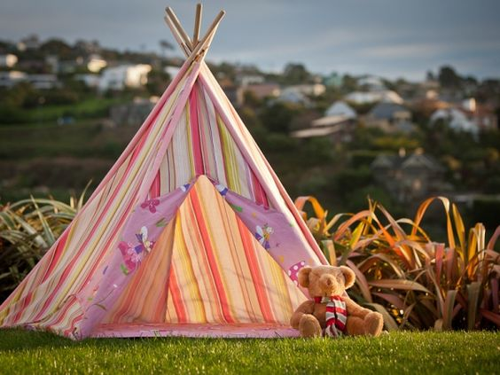 Teepees, cheap and durable, Easter pressie I think :))