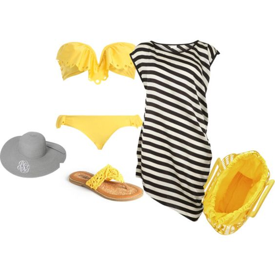 """beach time"" by softballbrit on Polyvore"