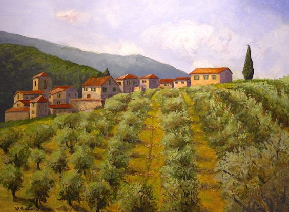 """A Convergence of Olive Trees""  Giclee Print-24""x18"" $85.00  MB.artwork@verizon.net"