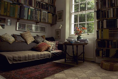 I love libraries in the home.