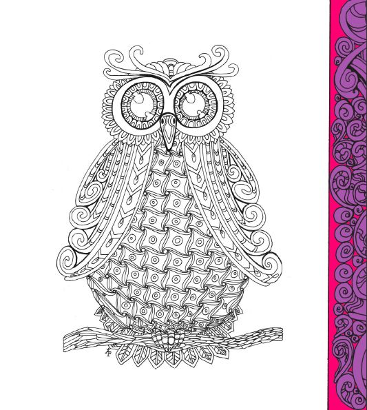 zentangle owl coloring pages - photo#21