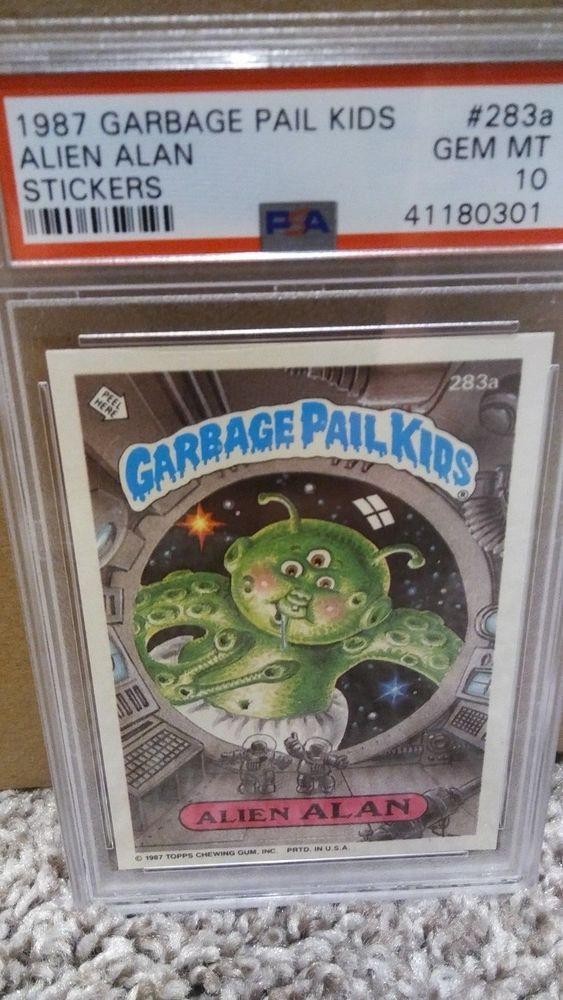 1987 Garbage Pail Kids 283a Alien Alan 41180301 Psa 10 Gem Mint Garbage Pail Kids Cards Kids