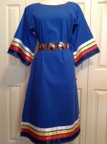 NATIVE-AMERICAN-REGALIA-NAKODA-MADE-4-DIRECTIONS-LADIES-RIBBON-DRESS-LEGGINS