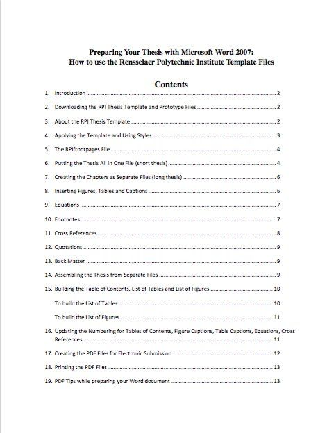 Image Result For Example Of Contents Page Table Of Contents