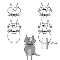 Dessiner un loup apprendre dessiner ee trois petits - Dessiner un loup facilement maternelle ...