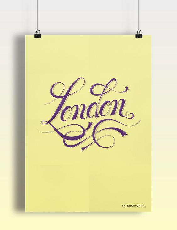 London - Type Illustration by Roberto Funke, via Behance