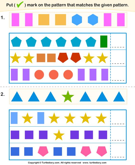 similar-pattern-4 | Razonamiento lógico: Seriación | Pinterest ...