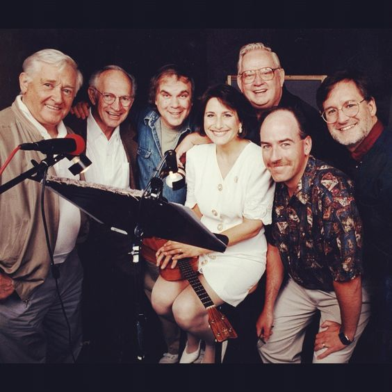 Here is the 1994Odyssey gang! How old were you when this was taken?      From left: Alan Young (voice of Jack Allen), Walker Edmiston (voice of Tom Riley and Bart Rathbone), Will Ryan (voice of Eugene Meltsner), Katie Leigh (voice of Connie Kendall), Dave Madden (voice of Bernard Walton), Dave Arnold (sound designer), Paul McCusker (producer)