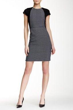 Tweed Striped Dress