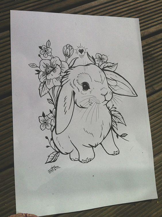 Cute as hell - love a lop bunny design. Plus more florals - bonus