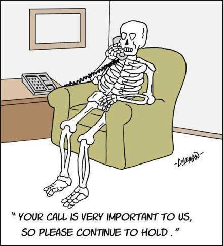 Your call is very important to us so please continue to hold cartoon.