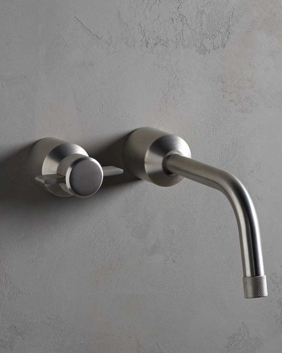 Urbane Wall Mounted 2 Hole Basin Mixer Finish: Satin Nickel www.thewatermarkcollection.eu: Bathroom Class, 11 Bathroom, Interiors Bathroom, Bathroom Design, Collection Urbane, Collection Product, Product 3, Product Range, Product Details