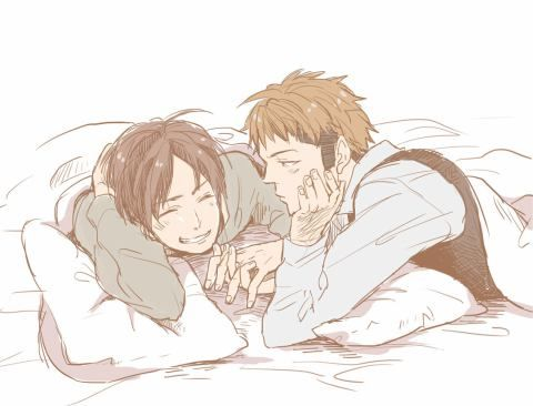 So cute! I ship them a tiny bit more than Jean and Marco. Just a little bit.