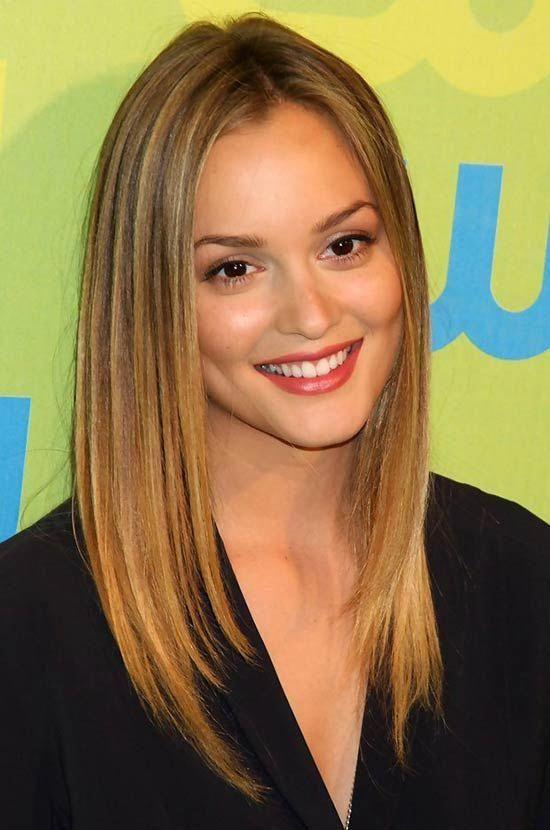 Leighton Meester Medium Straight Hairstyles Leighton Meester Hair Straight Hairstyles Medium Straight Hairstyles