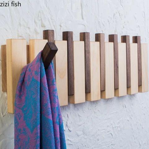 Design Coat Rack Black Each Size Available Folding Hooks Etsy In 2020 Rack Design Diy Coat Rack Modern Coat Rack