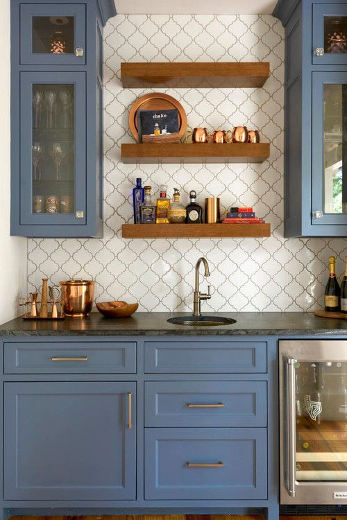 Modern Country Living In Santa Clara Town Floating Shelves Kitchen Wood
