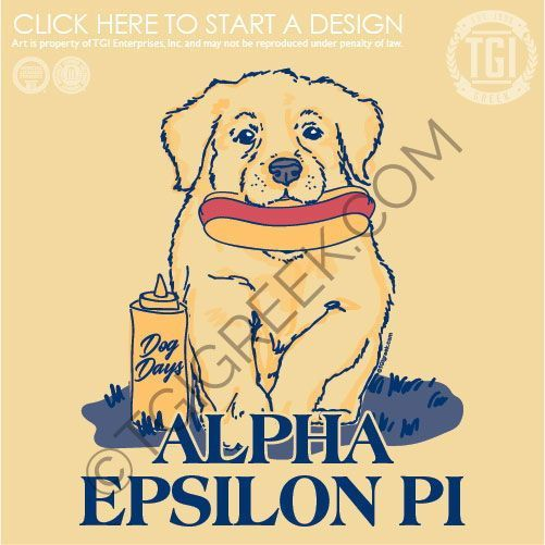 Alpha Epsilon Pi Dog Days Puppy Aep Tgi Greek Custom