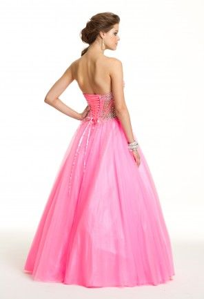 Strapless Illusion Beaded Dress | Pinterest | Illusions, Prom ...